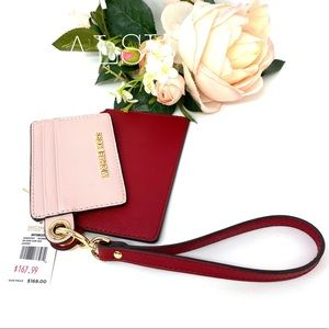 Michael Kors Duo Small Card Case Red Blossom Le W